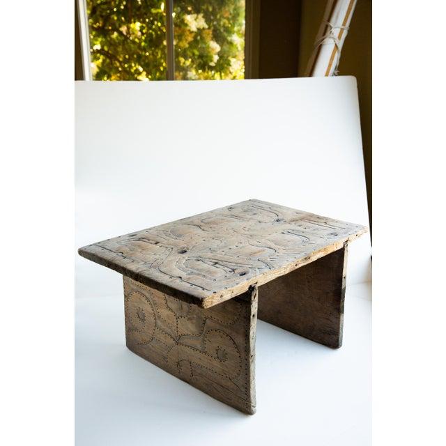 Enjoyable 20Th Century Primitive Elaborately Carved Wood Stool Creativecarmelina Interior Chair Design Creativecarmelinacom