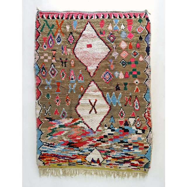 Moroccan Boucherouite Rug - 4′6″ × 6′5″ For Sale - Image 13 of 13
