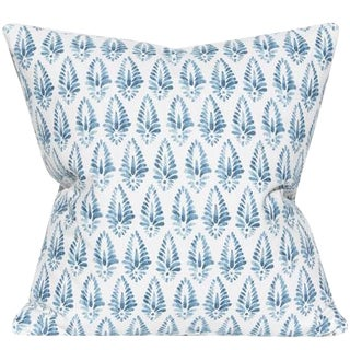 Jalisa Copen Blue and White Pillow For Sale