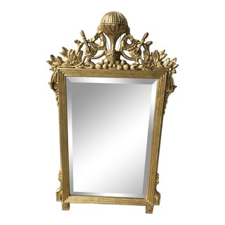 French Gold-Leaf Montgolfier Hot Air Balloon Gilt Mirror For Sale