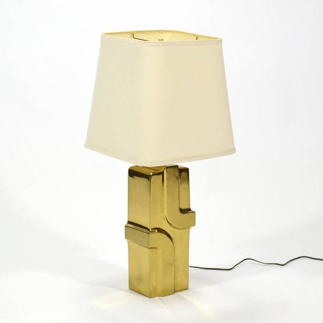 1970s 1970s Brass Table Lamp For Sale - Image 5 of 9