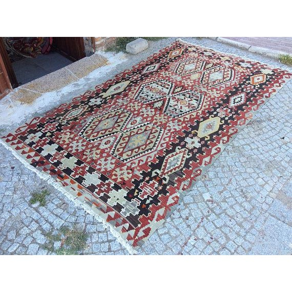 Vintage Anatolian Rug - 5′1″ × 9′3″ For Sale - Image 6 of 6