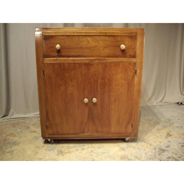 1950s 1950s Mid-Century Modern Wood Bar Cart For Sale - Image 5 of 8