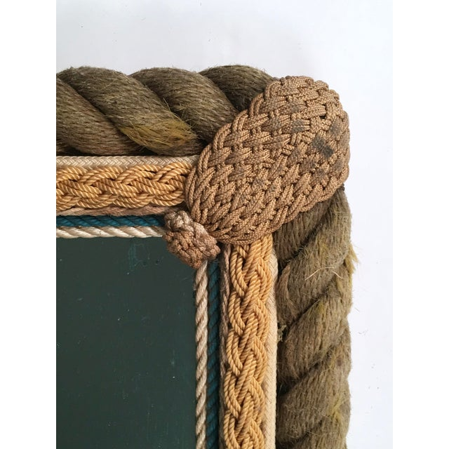 Blue Sailor Made Nautical Ropework Mirror For Sale - Image 8 of 12