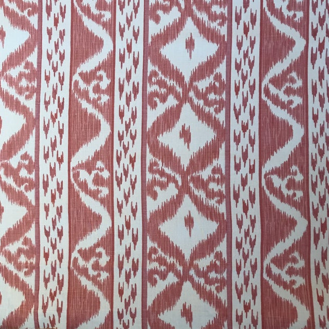 Cowtan & Tout Rapallo Coral Fabric For Sale - Image 9 of 9