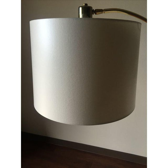 Vintage Brass Arc Style Floor Lamp - Image 3 of 5