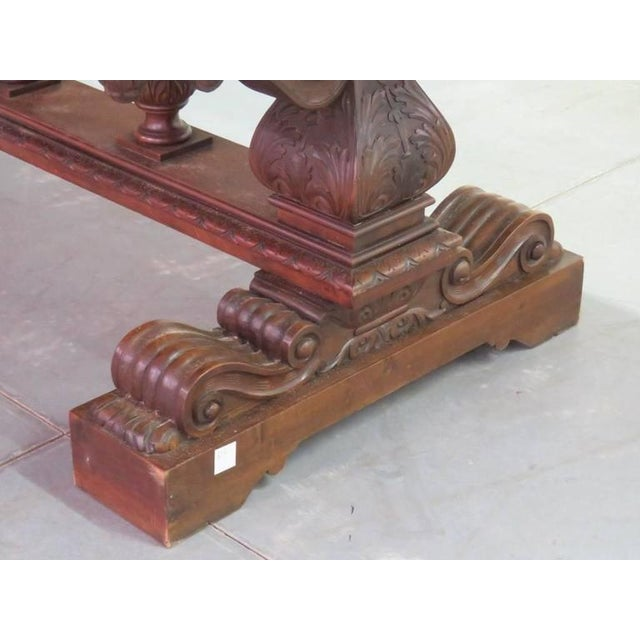19th Century Carved Walnut Dining Table - Image 3 of 10