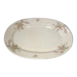 1970s Vintage Verona China Ceramic Floral Platter For Sale