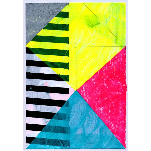 NY15 #15 Original Geometric Painting - Image 1 of 5