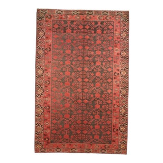 "Antique Khotan Samarkand Design Hand Knotted Rug - 5'1"" x 9'4"""