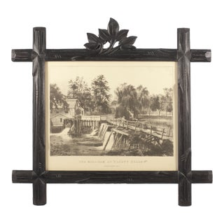Black Forest Style Frame With Waterfall Print