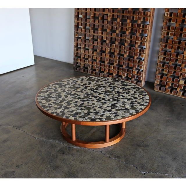 Jane & Gordon Martz Ceramic Tile Coffee Table for Marshall Studios, Circa 1960 For Sale In Los Angeles - Image 6 of 11