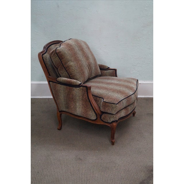Ethan Allen French Louis XV Cheetah Print Chair For Sale - Image 9 of 10