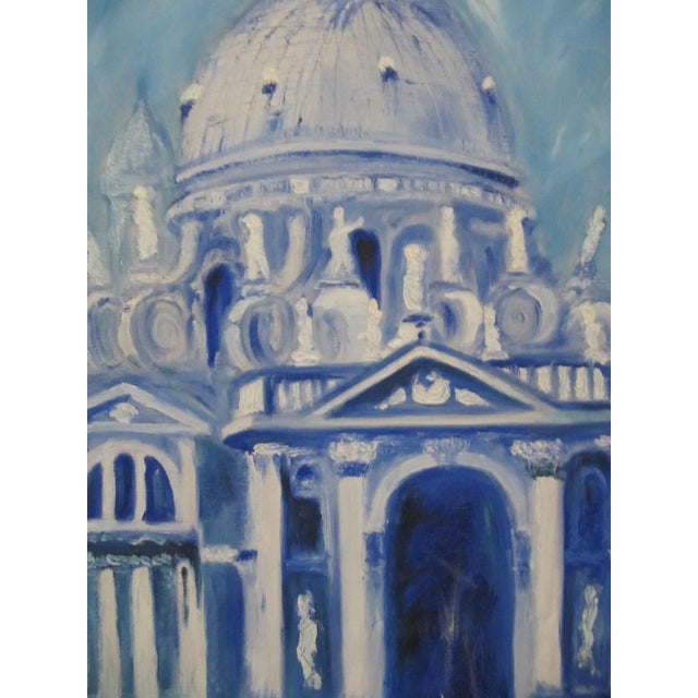 1970s Framed Vintage Painting of Venice For Sale - Image 5 of 8