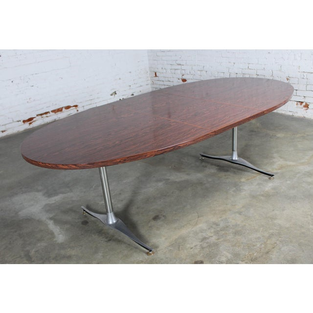 Mid-Century Dinette Set With Aluminum Base - Image 8 of 11