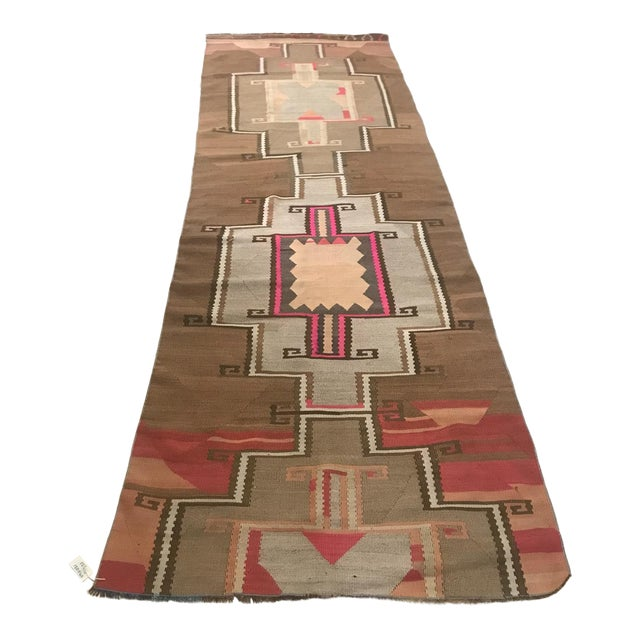 Turkish Vintage Kars Antique Kilim Rug Runner-3'4x10 For Sale