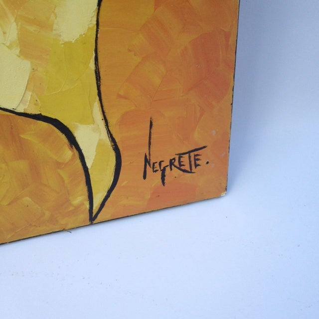 Guayasamin Style Mother and Child Signed Negrette - Image 3 of 5