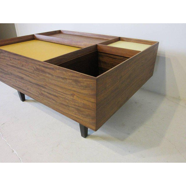 Contemporary Early Milo Baughman Coffee Table in Exotic Mindoro Wood for Drexel For Sale - Image 3 of 9