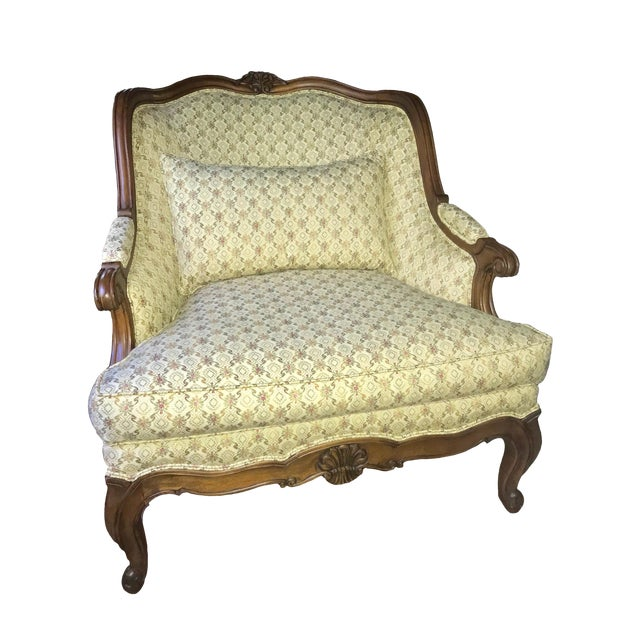 Lillian August for Drexel Oversized Bergere Chair For Sale