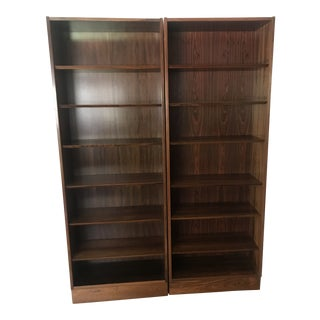 Poul Hundevad Rosewood Bookshelves - a Pair For Sale