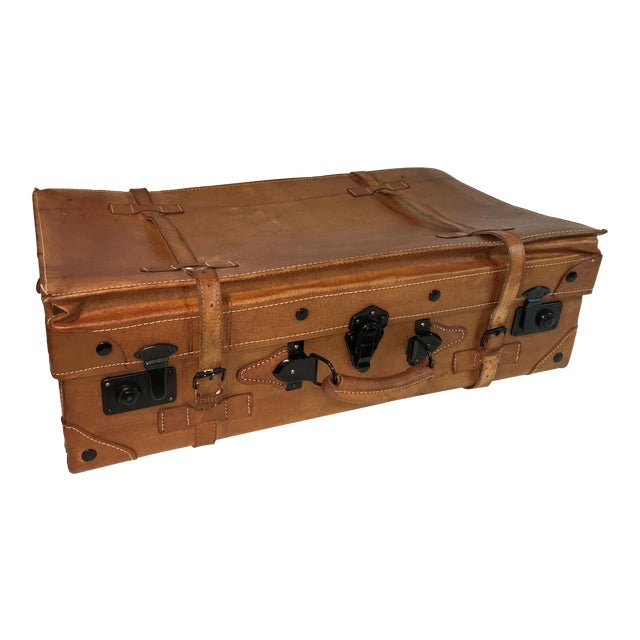 Vintage Leather Suitcase - Image 1 of 8