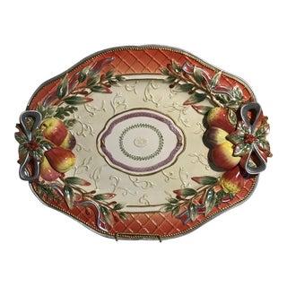 Fitz & Floyd Venetian Romance Oval Platter Wall Plate For Sale
