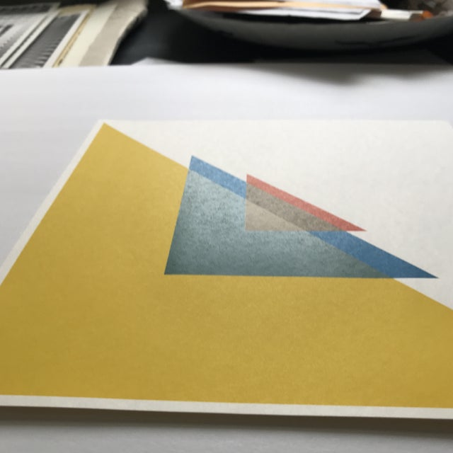 1960s 1967 Andreas Christen Geometric Composition Color Silkscreen - Signed For Sale - Image 5 of 5