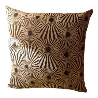Mod Black Starburst Pillow