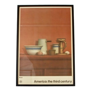 1970s Vintage America the Third Century William Bailey Original Framed Poster For Sale
