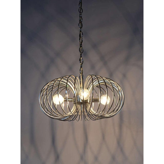 "Gaetano Sciolari ""Cage"" pendant lamp by Lightolier For Sale - Image 9 of 11"