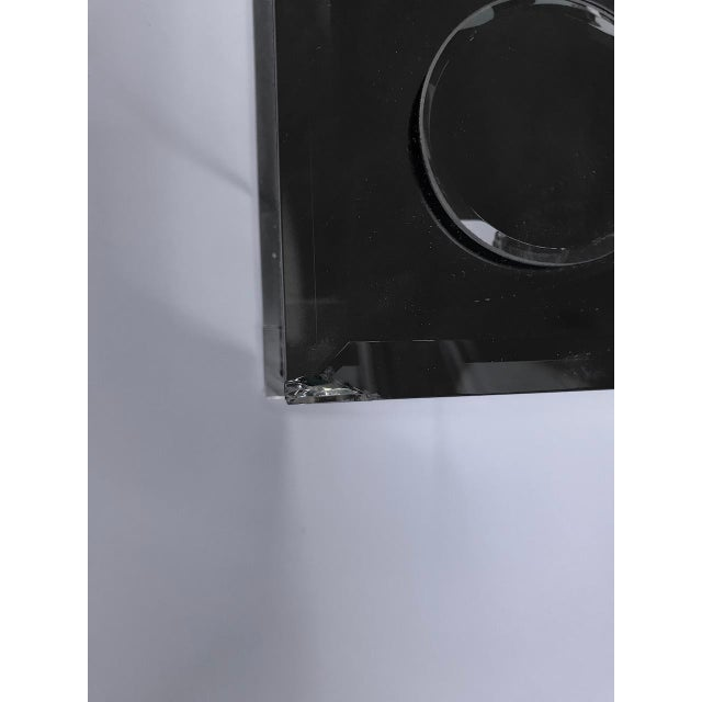 Metal Modern Applied Circle Mirrored Frame Wall Mirror For Sale - Image 7 of 9