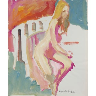 Bay Area Figurative Distemper Painting For Sale