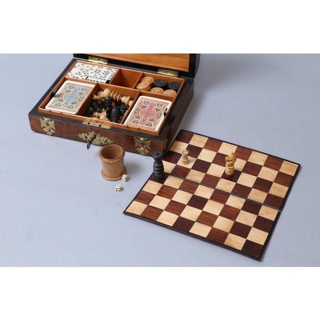 Antique English Games Compendium, Lock & Key For Sale - Image 4 of 9