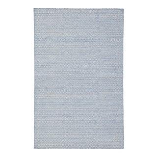 Jaipur Living Eulalia Handmade Geometric Blue/ Ivory Area Rug - 5'x8' For Sale