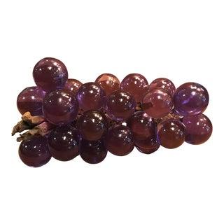 Vintage Purple Lucite Grapes Figurine
