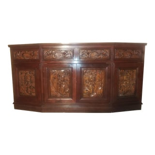 Japanese Hand Carved Sideboard For Sale