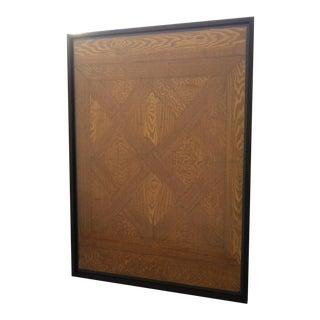 Framed Faux Bois Sample For Sale