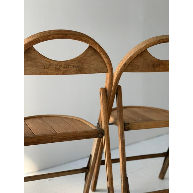 1930s 1930s Bauhaus Bent Wood Folding Chairs - a Pair For Sale - Image 5 of 13