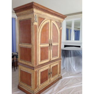 Rustic Solid Wood With Crown Molding and Brass Hardware TV-Armoire Preview