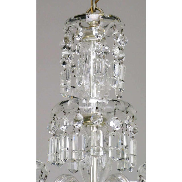Metal Lightolier Cut-Crystal Five-Arm Chandelier, Circa 1940s For Sale - Image 7 of 12