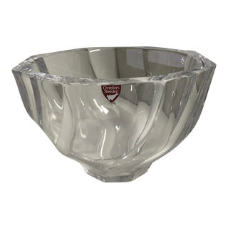 Orrefors Residence Crystal Bowl For Sale