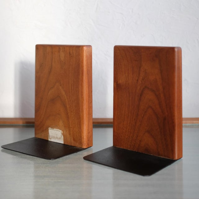 Martz Bookends for Marshall Studios Walnut and Ceramic For Sale In San Diego - Image 6 of 10