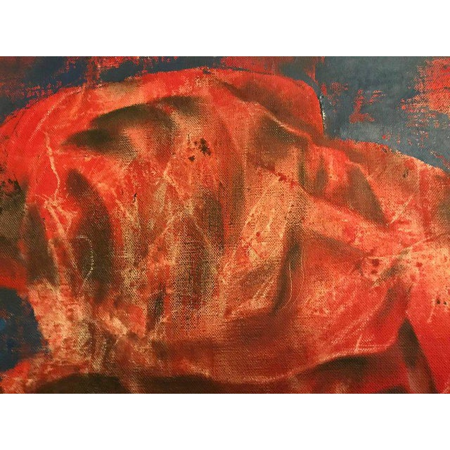 "Red Joseph Wolins ""Two Figures II"" Painting For Sale - Image 8 of 12"