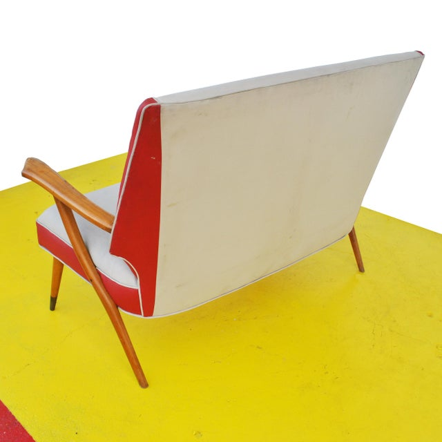 Wood Italian Style Settee For Sale - Image 7 of 11