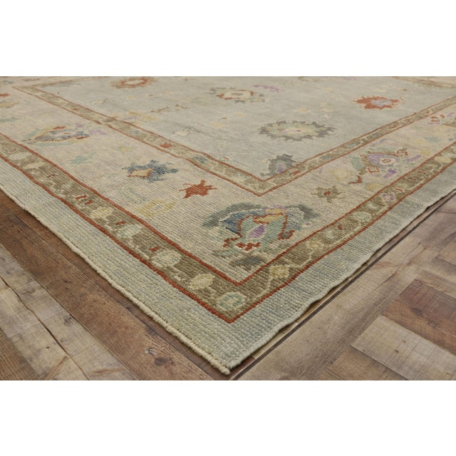 """Contemporary Turkish Oushak Rug - 8'00"""" X 10'04"""" For Sale In Dallas - Image 6 of 9"""