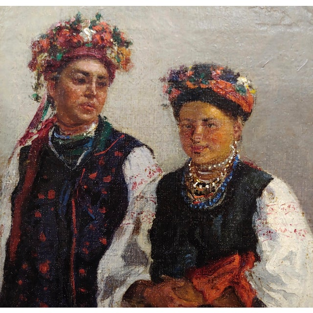 "19th Century Original 19th Century ""Russian Wedding"" Oil Painting For Sale - Image 5 of 10"