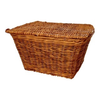 19th Century Monumental English Harvest Basket For Sale