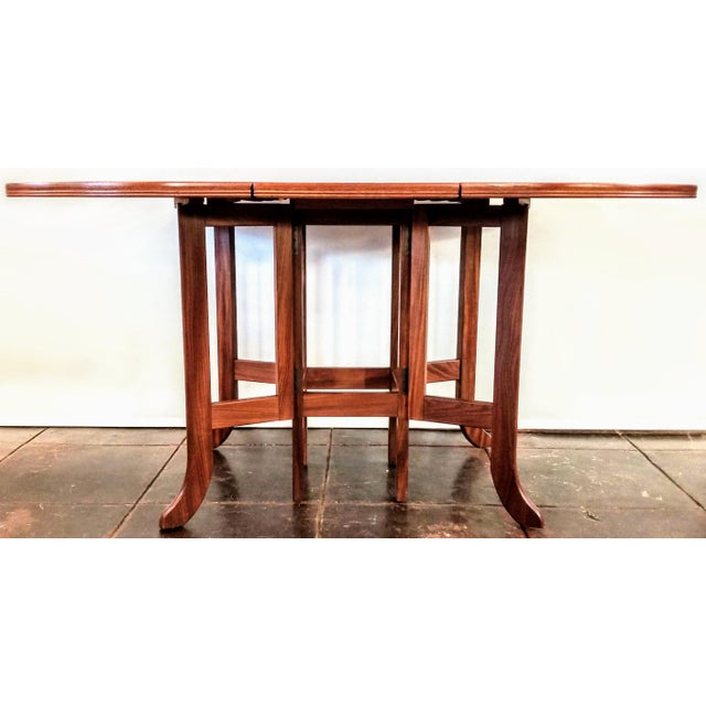 Mid-Century Modern Scandinavian Modern Style Nathan Teak Parker Knoll Drop-Leaf Gate-Leg Occasional Dining Table For Sale - Image 3 of 13