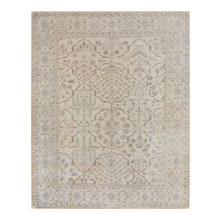 "Transitional Mansour Fine Quality Handwoven Agra Rug - 8' X 10'2"" For Sale"