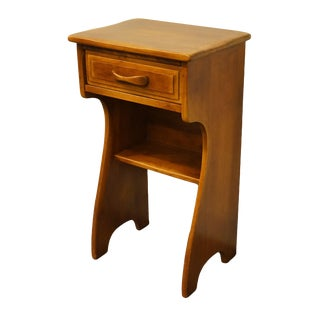 "Cushman Colonial Bennington, Vt Solid Hard Rock Maple Colonial Style 16"" Nightstand 2059 For Sale"
